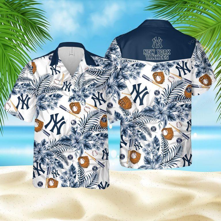 New York Yankees Baseball Hawaiian Shirt short 1