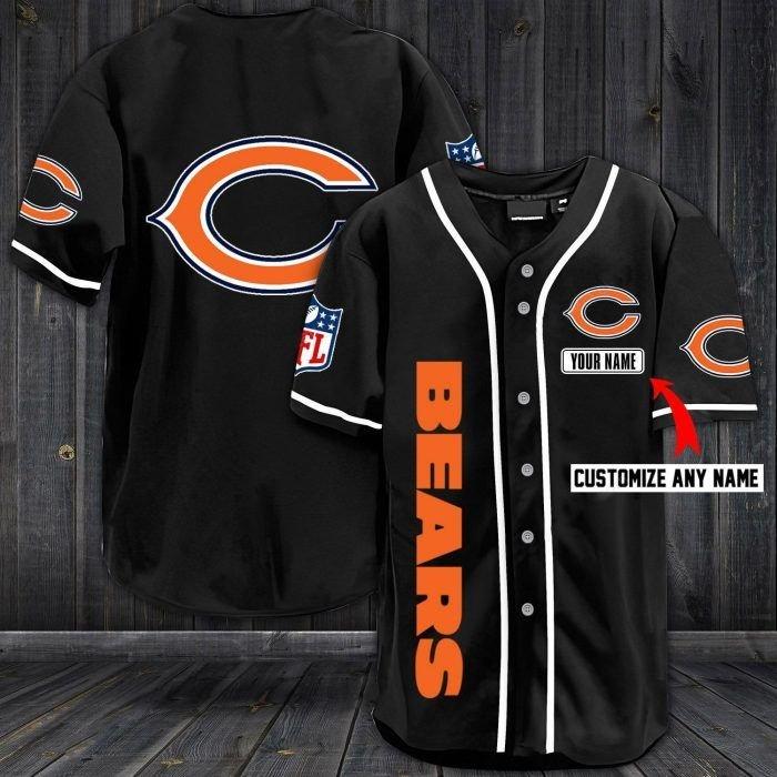 Nfl chicago bears custom name baseball jersey shirt