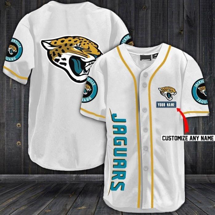 Nfl jacksonville jaguars baseball jersey shirt