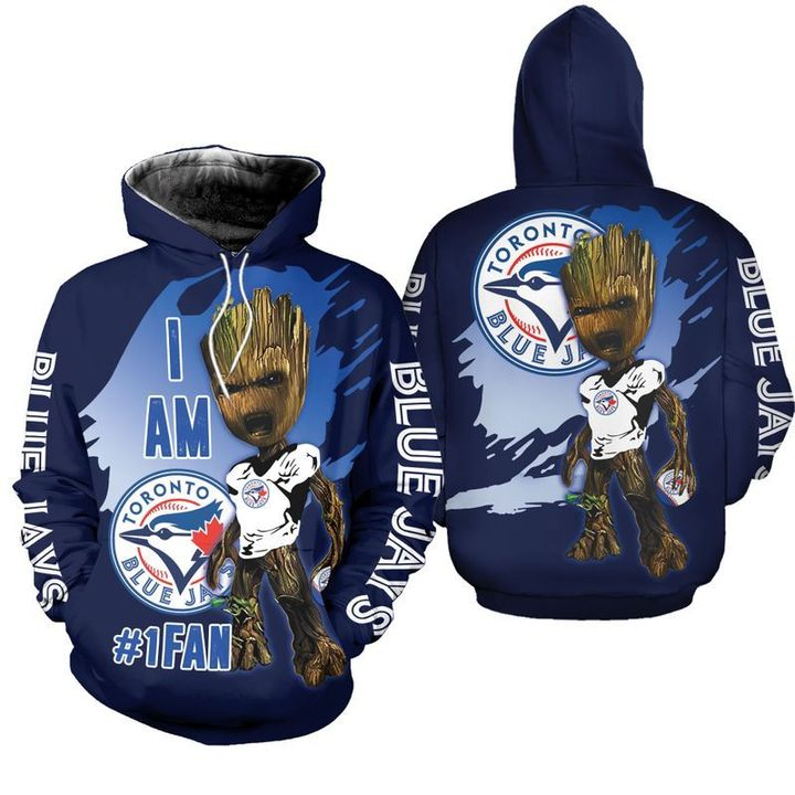 Baby Groot Toronto blue jays 3d hoodie 1