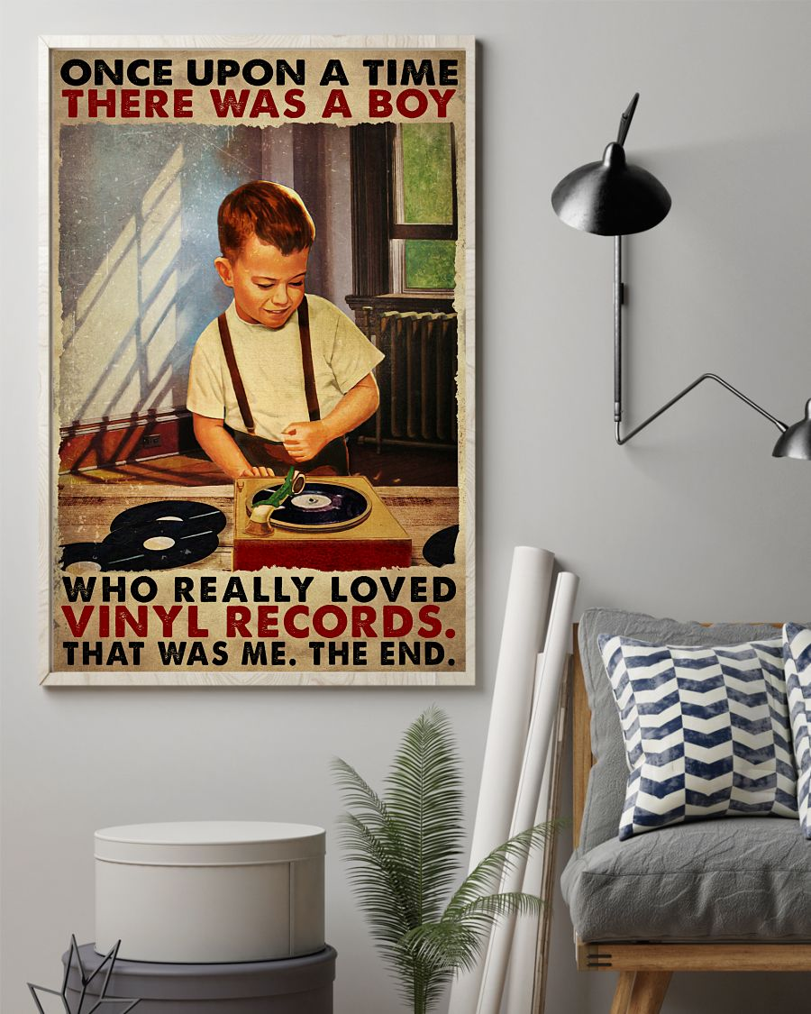 Once upon a time there was a boy who really loved vinyl records poster 1