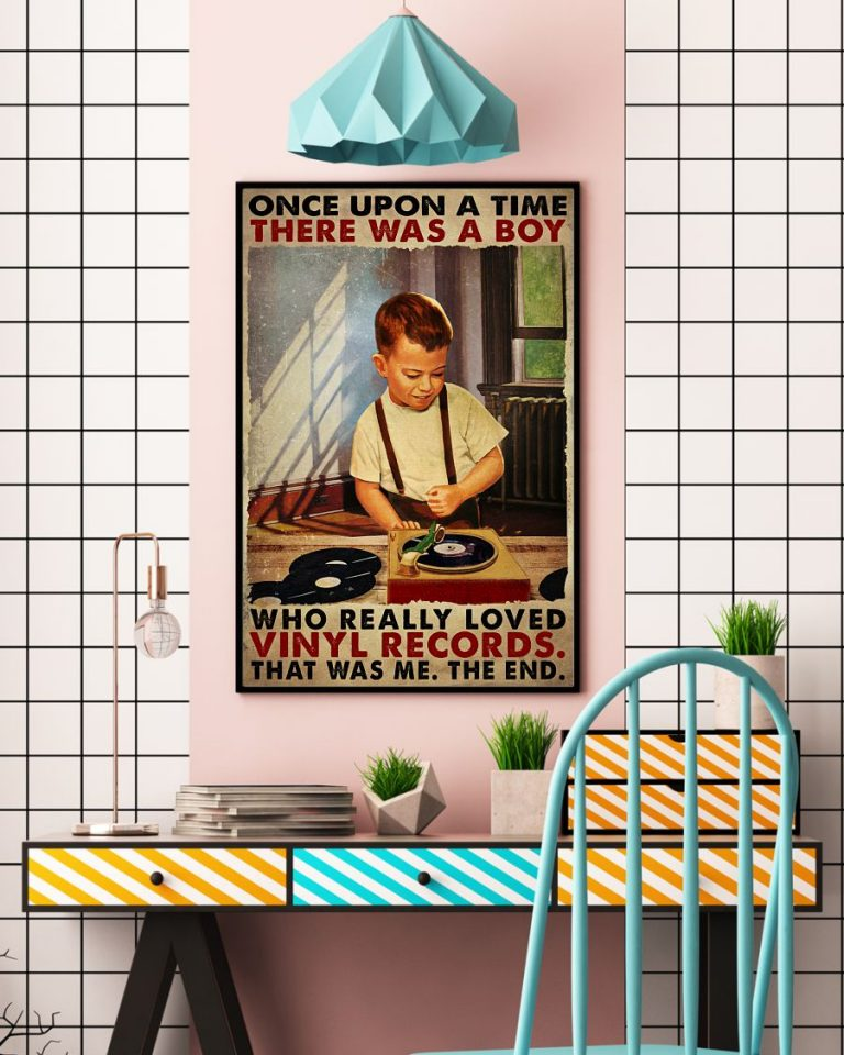Once upon a time there was a boy who really loved vinyl records poster 3