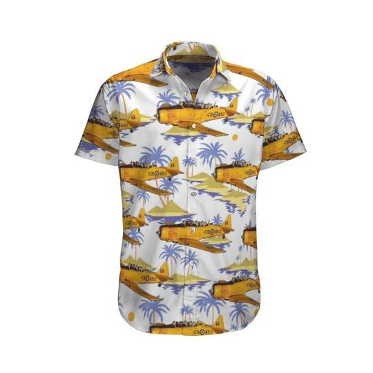 Rcaf historical aircraft north american harvard hawaiian shirt 1