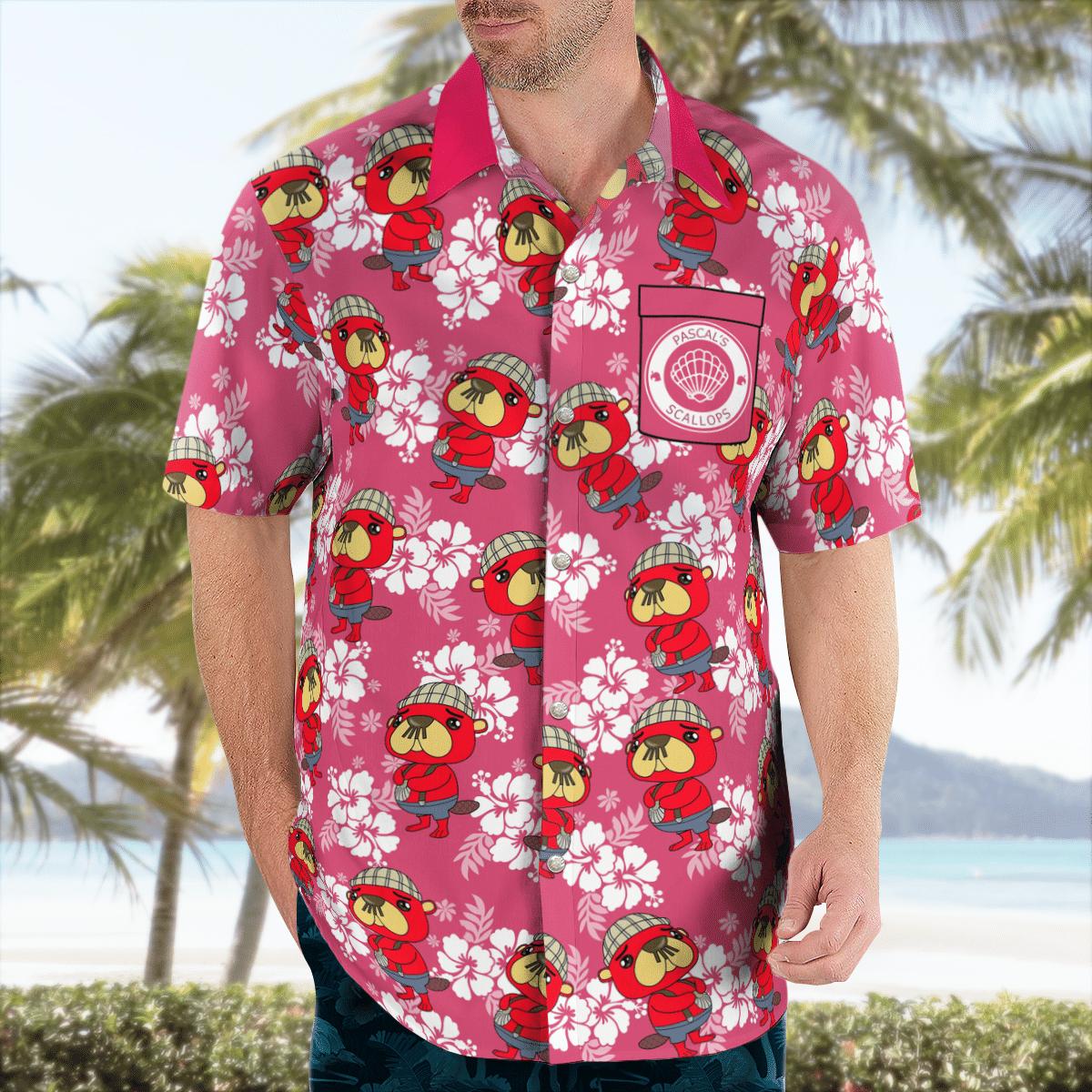 Pascal Scallop Hawaiian shirt2