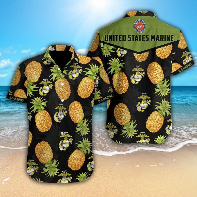 Pineapple United States Marine Hawaiian shirt