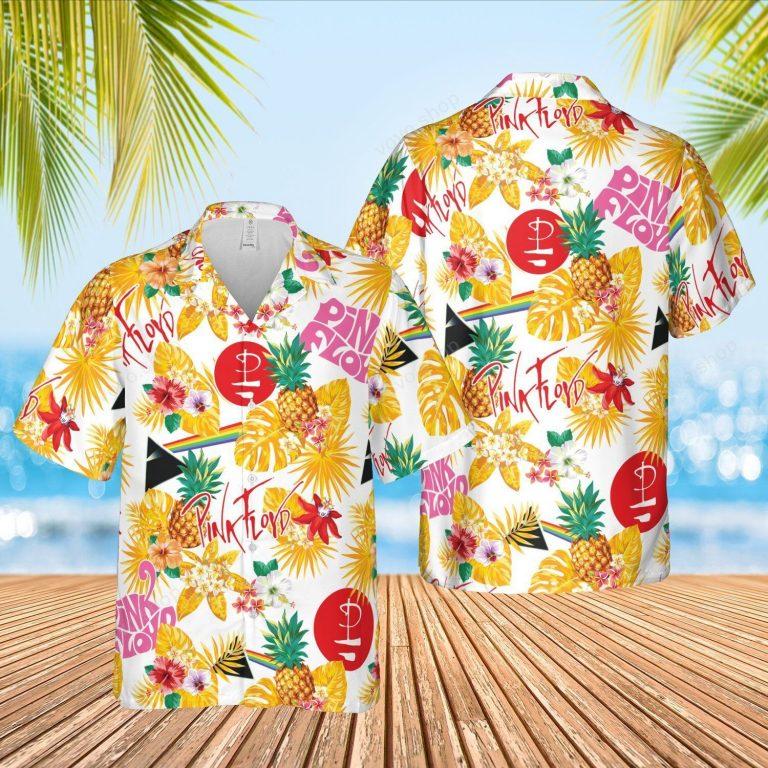 Pink Floyd pineapple Hawaiian shirt short 1
