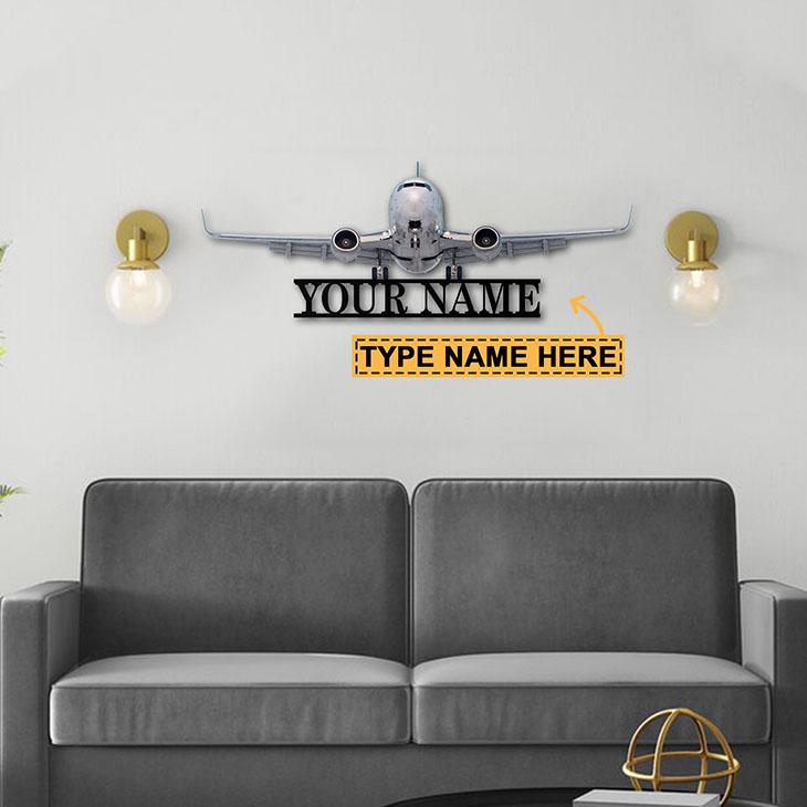 Plane Personalized Custom Name Metal Sign1