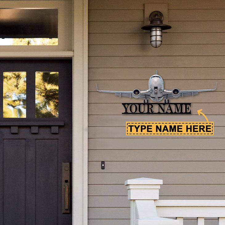 Plane Personalized Custom Name Metal Sign2