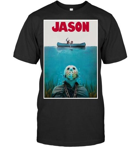 Jason Voorhees Jaws Shark Hoodie Shirt