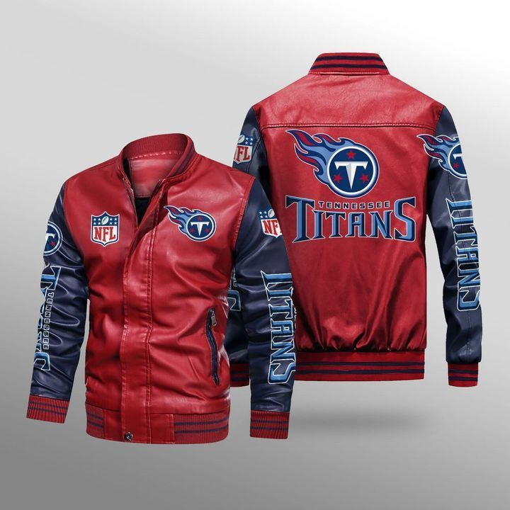 Tennessee Titans Leather Bomber Jacket 2