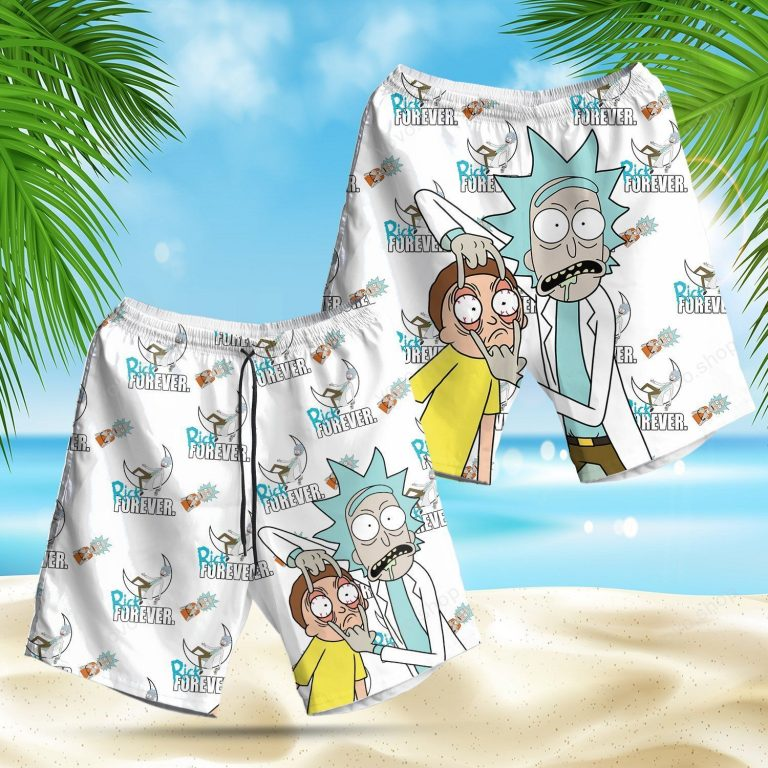 Rick and Morty forever cartoon beach short