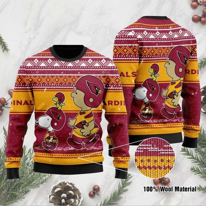 Snoopy and Charlie Brown Arizona Cardinals Sweater 1