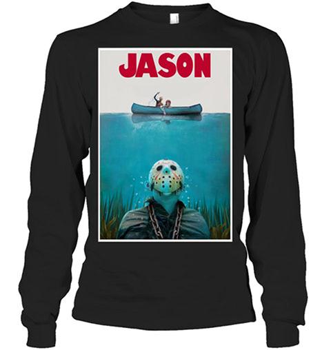 Jason Voorhees Jaws Shark Hoodie Shirt4