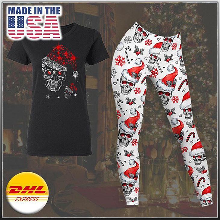 Santa Skull Clown 3D TShirt Leegings3