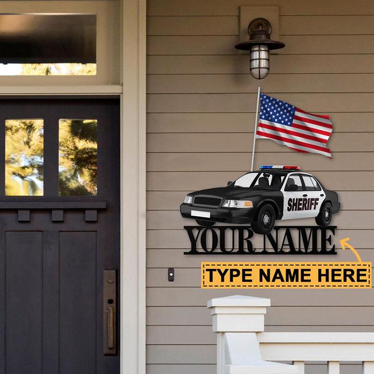 Sheriff Car Personalized Custom Name Metal Sign2