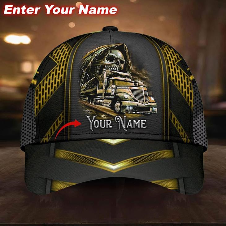 Skull Truck Cap Custom Name5