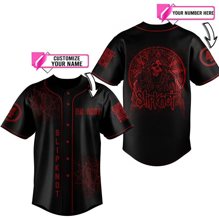 Slipknot Jim Root Custom Name And Number Baseball Jersey Shirt