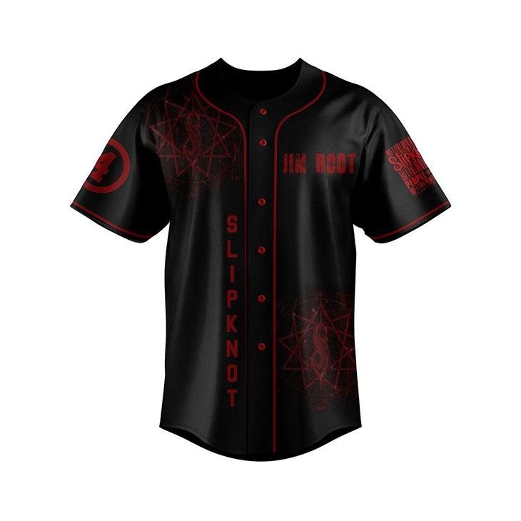 Slipknot Jim Root Custom Name And Number Baseball Jersey Shirt1