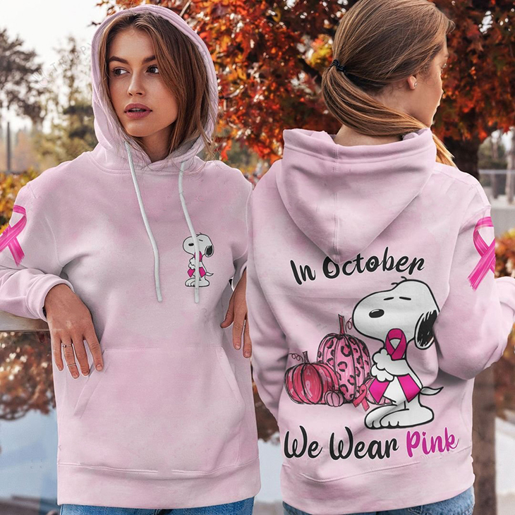 Snoopy In October We Wear Pink 3D Hoodie And Shirt1