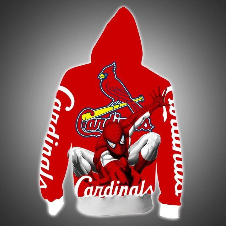 Spider man St. Louis cardinals hoodie 1