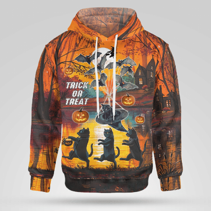 Spooky Trick Or Treat Halloween 3D Hoodie And Shirt1