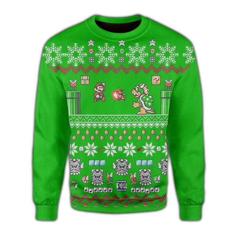 Superman Mario Ugly Christmas Sweater 1