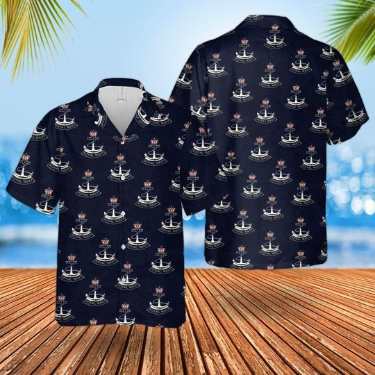 Royal Navy Badge Hawaiian Shirt