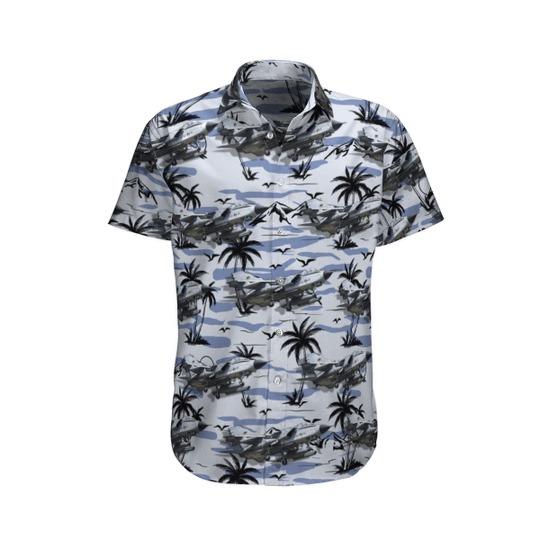 German air force luftwaffe panavia tornado ecr hawaiian shirt 1