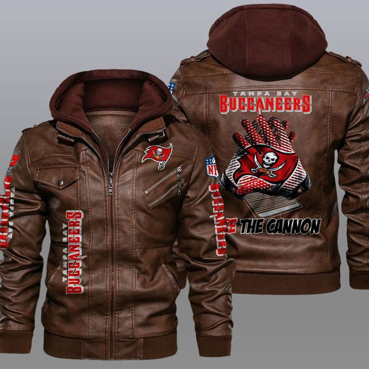 Tampa Bay Buccaneers Fire The Cannon Leather Jacket1