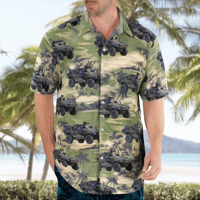 Tank Land force Hawaiian shirt 2