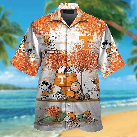 Tennessee volunteers Snoopy autumn hawaiian shirt and short1