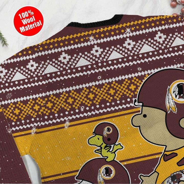 Snoopy and Charlie Washington Redskins Ugly Christmas Sweater 4