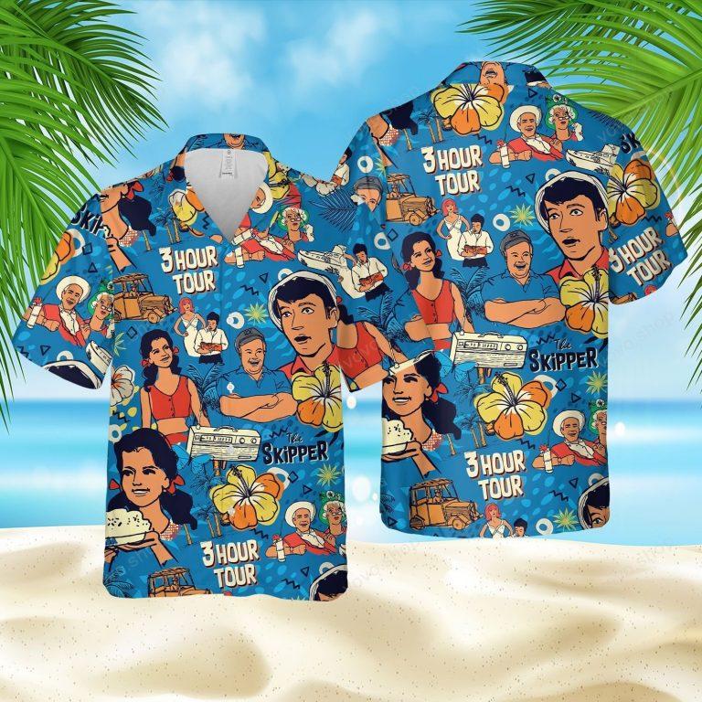 The Skippers Three Hour Tour Hawaiian shirt short 1