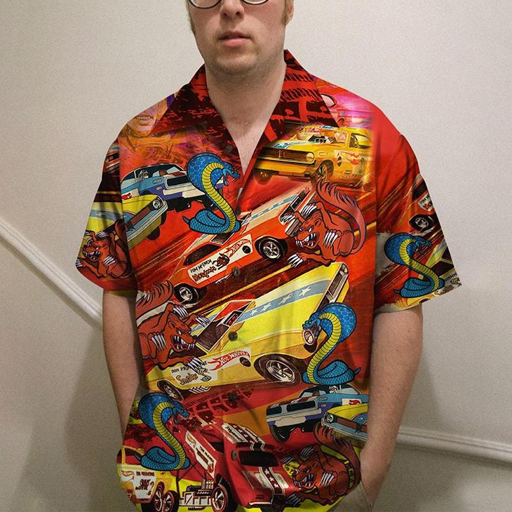 The Snake And Mongose Drag Racing Hawaiian Shirt2