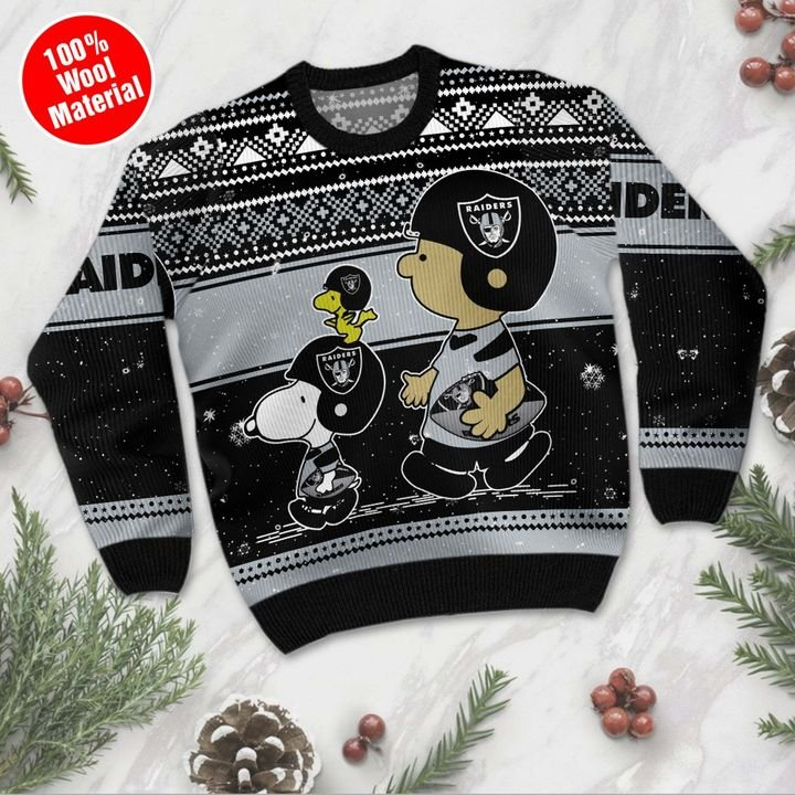 Las Vegas Raiders Baby Yoda Ugly Christmas Sweater 2