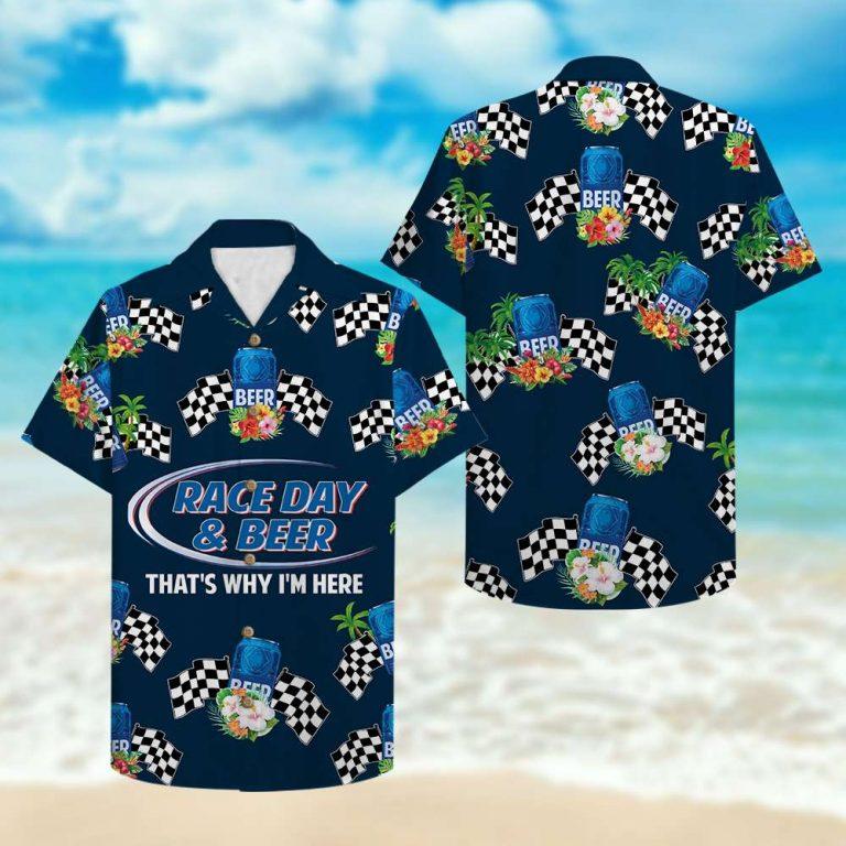 Track Racing Race Day And Beer Hawaiian Shirt 2
