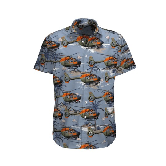 German Army Airbus Helicopters H145m Hawaiian Shirt 1