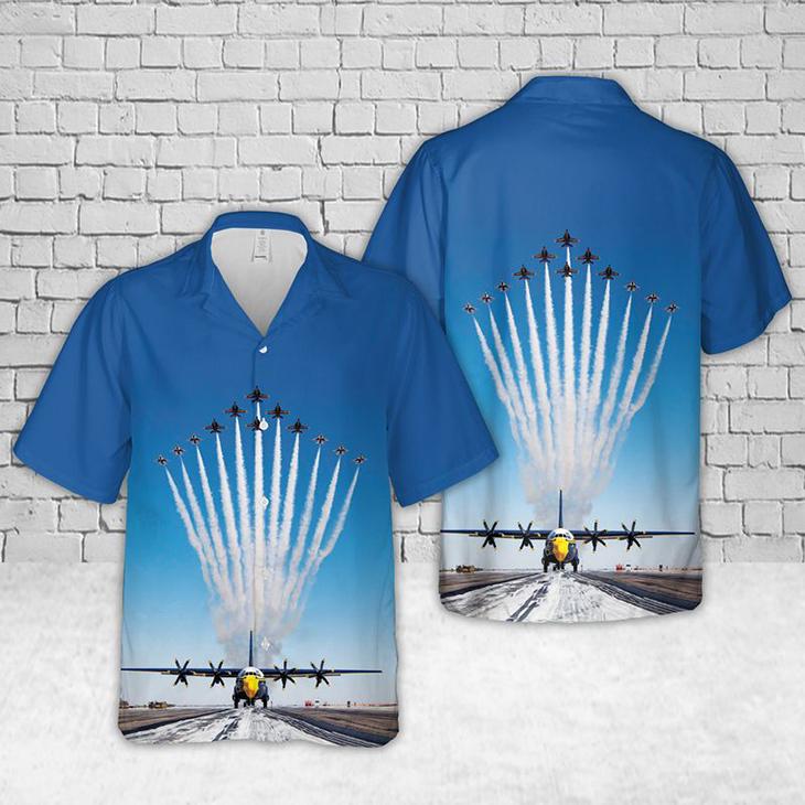 US Navy Blue Angels Show Hawaiian Shirt