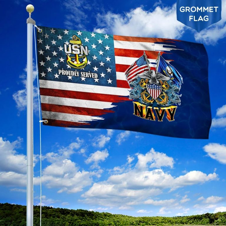 US Navy Proudly Served American Flag 2
