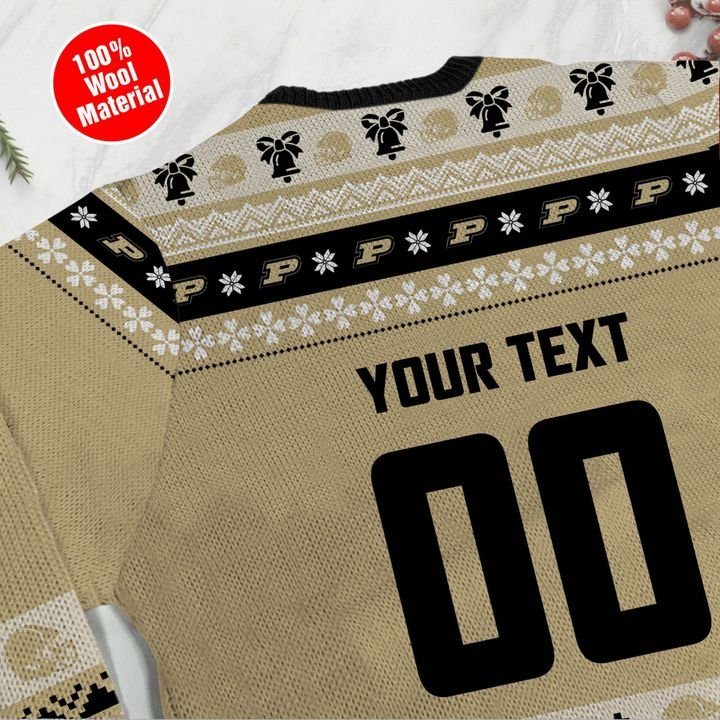 Purdue Boilermakers Custom Ugly Christmas Sweater 4