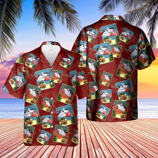 Sikorsky S 92 Hm Coastguard Hawaiian Shirt