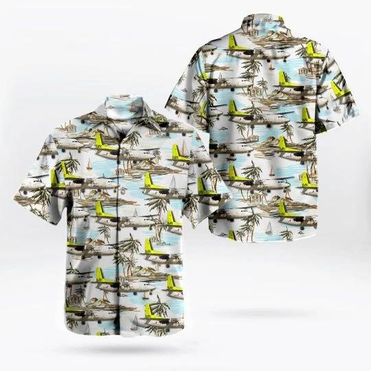 Airbaltic fokker 50 hawaiian shirt 1