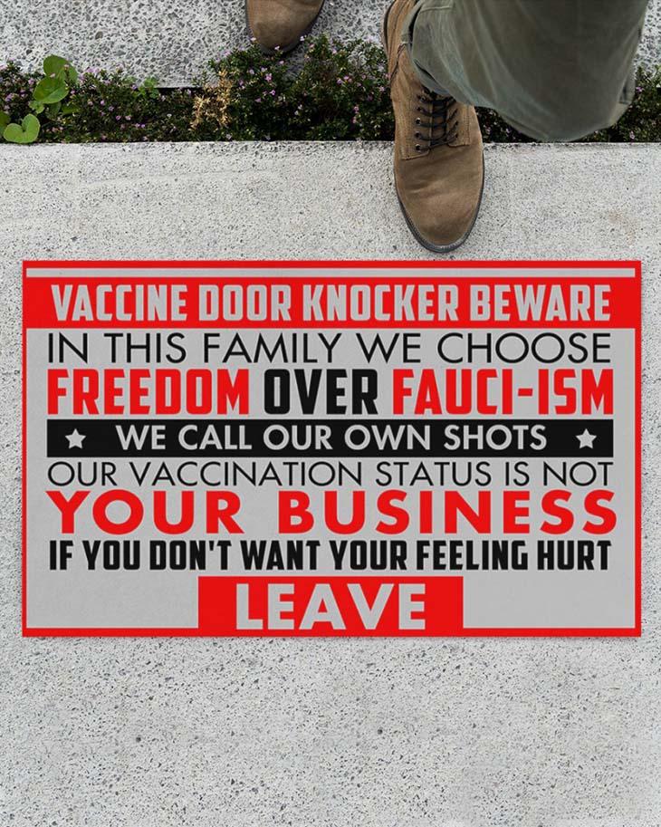 Vaccine Door Knocker Beware Doormat1