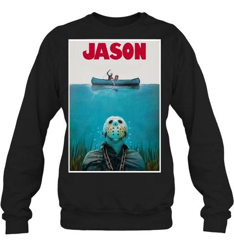 Jason Voorhees Jaws Shark Hoodie Shirt3
