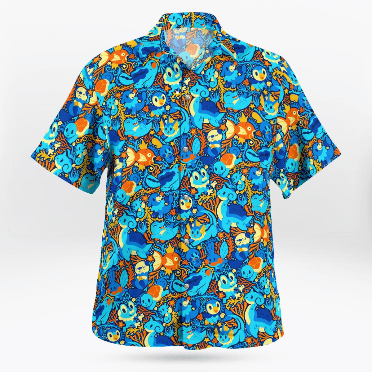 Water Pokemon Hawaiian shirt1