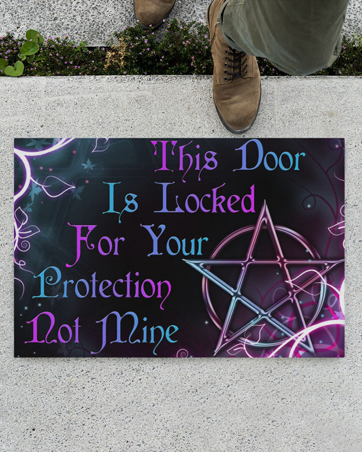 Witch This Door Is Locked For Your Protection Not Mine Doormat1