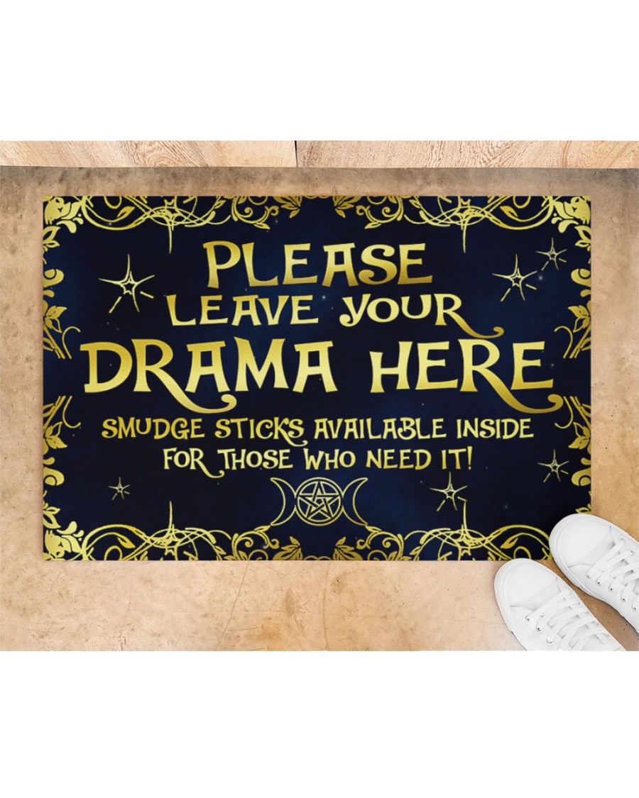 Witch please leave your drama here smudge sticks available inside doormat 2