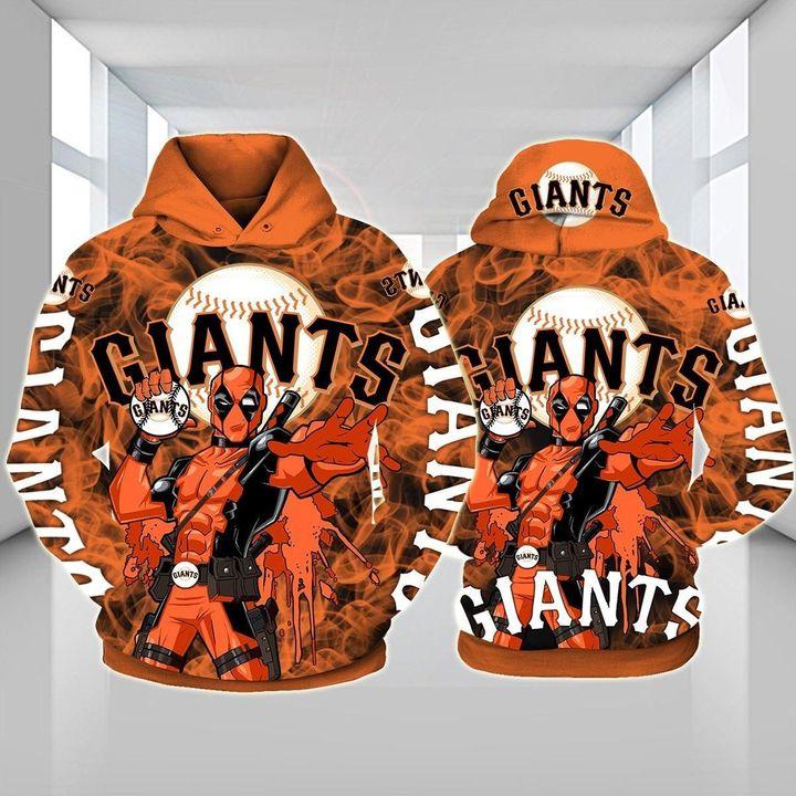 Deadpool San francisco giants 3d hoodie 1