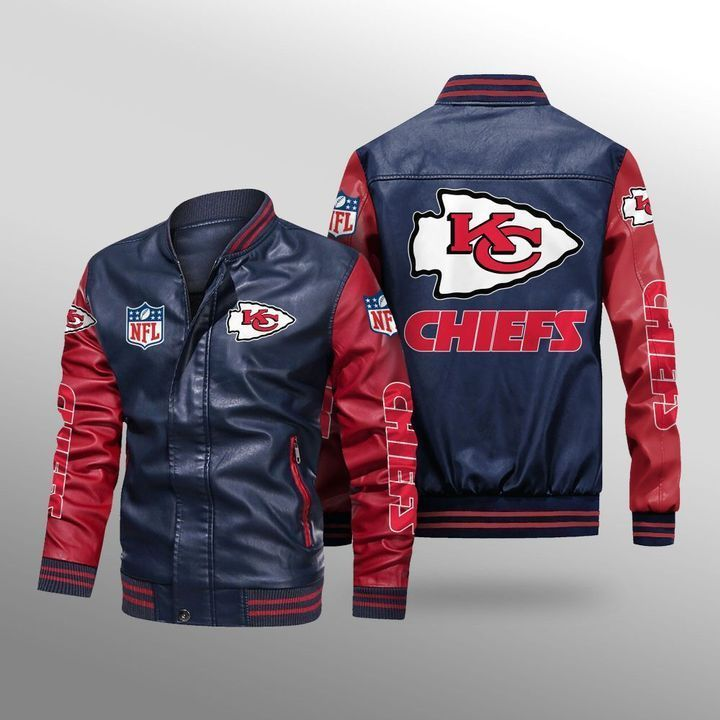 Kansas City Chiefs Leather Bomber Jacket 4