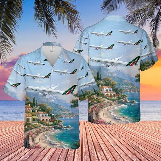 Alitalia airbus a330 200 hawaiian shirt 1
